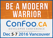 ConFoo December 5-7, 2016 in Vancouver